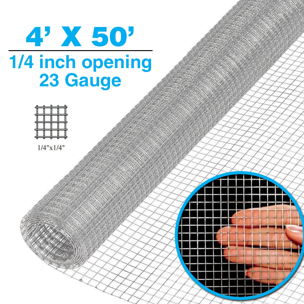 Clevr 3' x 50' 1 2 in 19 gauge Hardware Cloth Galvanized Cage Wire Mesh Chicken by Clevr