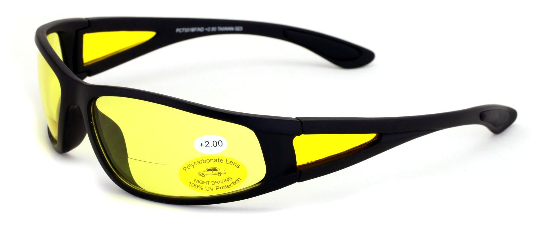 Yellow Lens Night Vision BIFOCAL Readers Driving Computer Gaming Reading Glasses