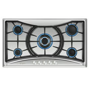 """Empava 36"""" Gas Stove Cooktop with 5 Italy Sabaf Sealed Burners NG/LPG Convertible(36GC22) in Stainless Steel"""