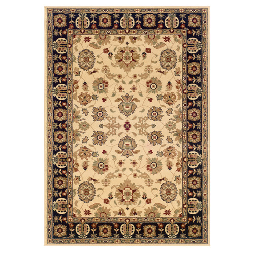 LR Resources Adana Persian Cream/Black Area Rug