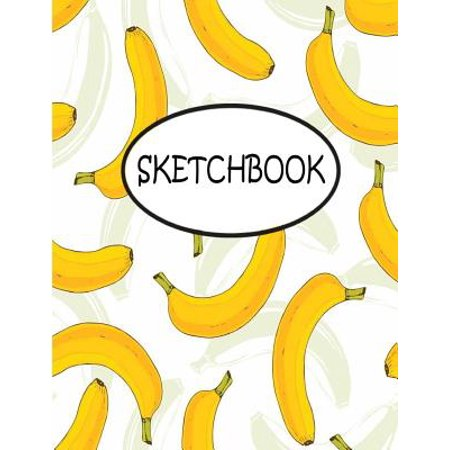 Teen With Banana (Sketchbook : Yellow Banana: 110 Pages of 8.5 X 11 Blank Paper for Drawing, Sketchbook for Adult, Sketchbook for)