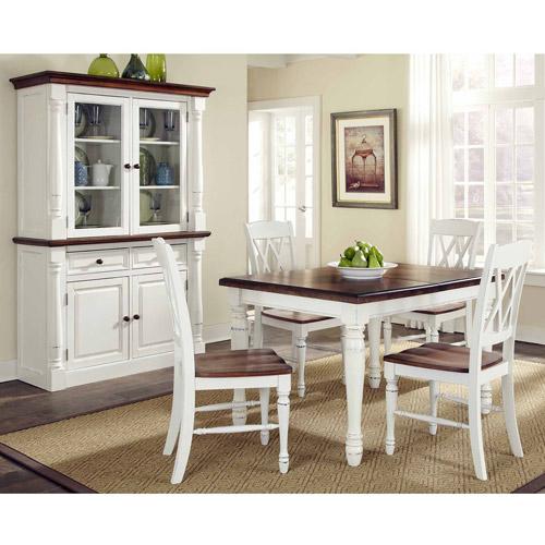 Home Styles 5-Piece Dining Set, Black/Cottage Oak