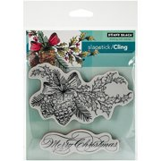 """Penny Black Cling Rubber Stamp, 5"""" x 7.5"""" Sheet, Winter Pine"""