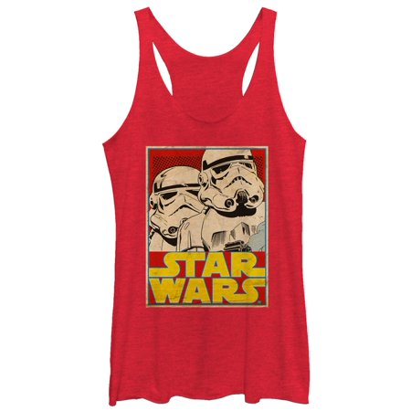 Star Wars Women's Stormtrooper Trading Card Racerback Tank Top - Stormtrooper Suits For Sale