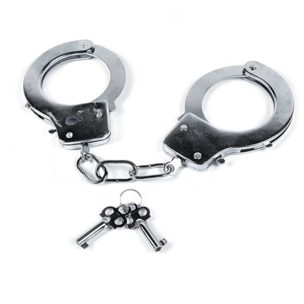 Kids Toy Metal Handcuffs with Keys Kids Police Swat Role Play Game Toy Party Costume Accessory