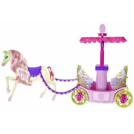 Barbie Princess Charm School Horse And Carriage - Cardboard Princess Carriage