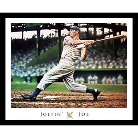 FRAMED Joe DiMaggio by Darryl Vlasak 20x16 Art Print Poster Baseball Painting Yankees Sports