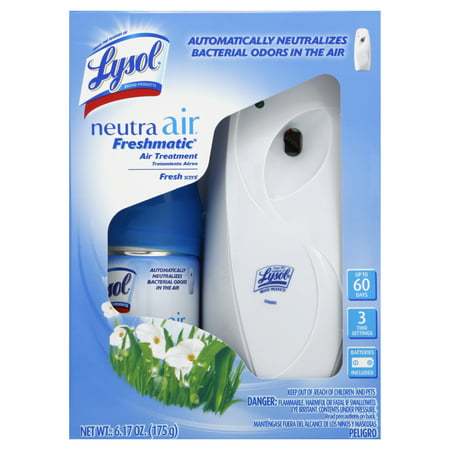 Lysol Neutra Air Freshmatic Automatic Spray Kit (Gadget + 1 Refill) Fresh Scent, Air Freshener, Odor (Original Scent 19 Oz Aerosol)