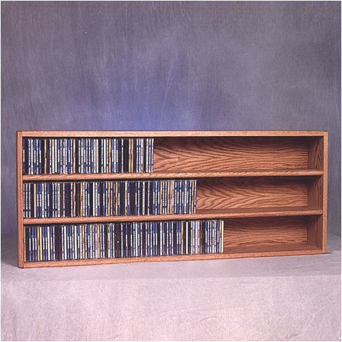 Wood Shed 300 Series 354 CD Wall Mounted Multimedia Storage Rack