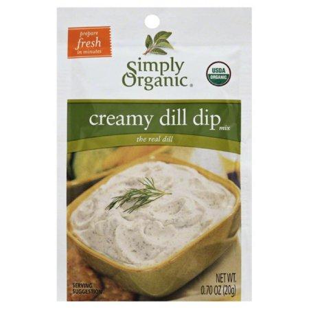 - Simply Organic Creamy Dill Dip Mix, 0.7 Oz (Pack of 12)