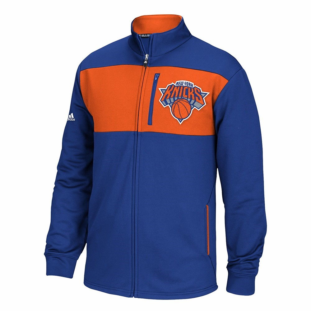 New York Knicks NBA Adidas Blue Tip-Off Full Zip Team Logo Track Jacket For Men (S) by Adidas