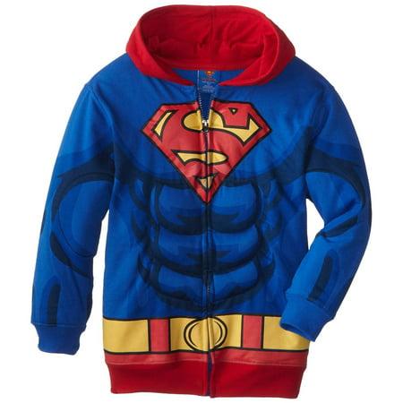 DC Comics Superman Puffed Zip Up Youth Hoodie](Superman Zip Up Hoodie)