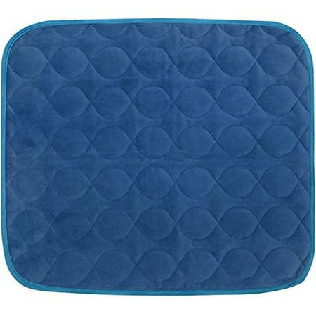 Platinum Care Pads Velvet Opulence Premium Comfort Chair Pad/Underpad Washable Size - 18X24 (Blue)