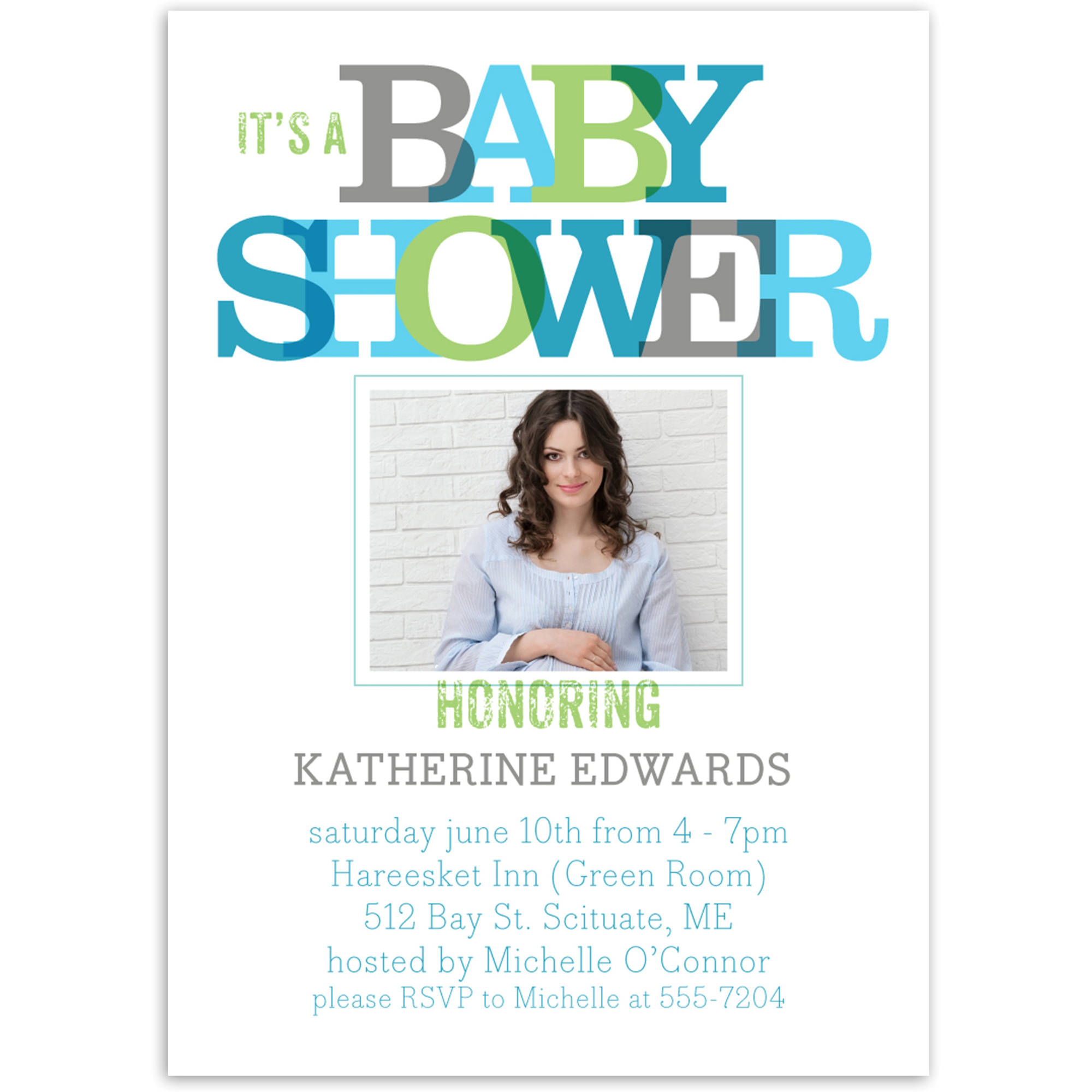 Primary Overlap Baby Invitation