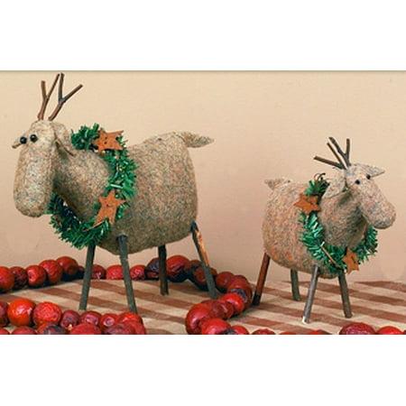 Primitive Reindeer Tree Ornament - Primitives By Kathy Halloween Ornaments
