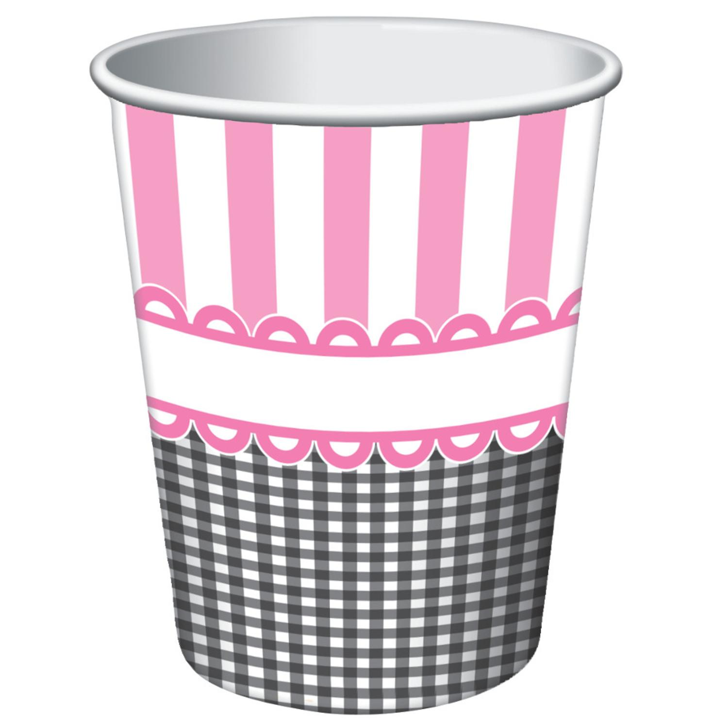 Club Pack of 96 Sweet Baby Feet- Pink Disposable Paper Hot and Cold Drinking Party Cups 9 oz.