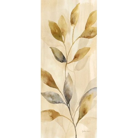 Majestic Leaves Panel I Stretched Canvas - Cynthia Coulter (24 x 48)