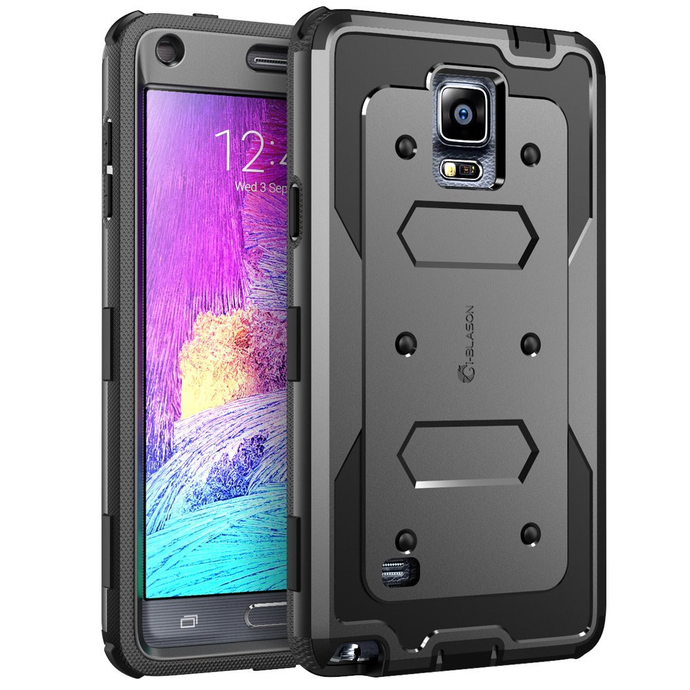 Galaxy Note 4 Case, i-Blason, Armorbox,Hybrid Full-body Protective Case For Samsung Galaxy Note 4-Black