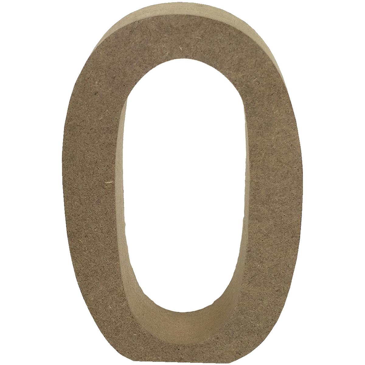 Smooth MDF Blank Shape-Serif Number 0