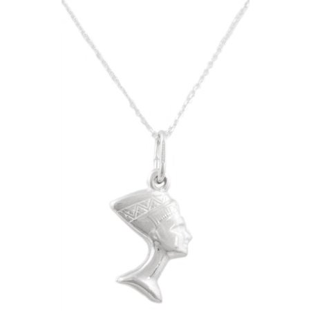 Real 925 Italy Sterling Silver Dangling Nefertiti 18 Inch Link Necklace [Jewelry]