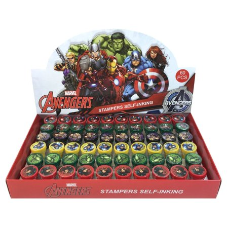 60 PCS Avengers Self-inking Stamp Birthday Party Favors Stampers for $<!---->