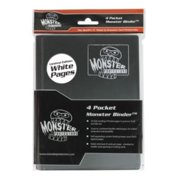 Monster Binder - 4 Pocket Matte Black Album with White Pages (Limited Edition) - Holds 160 Yugioh, Magic, and Pokemon Cards