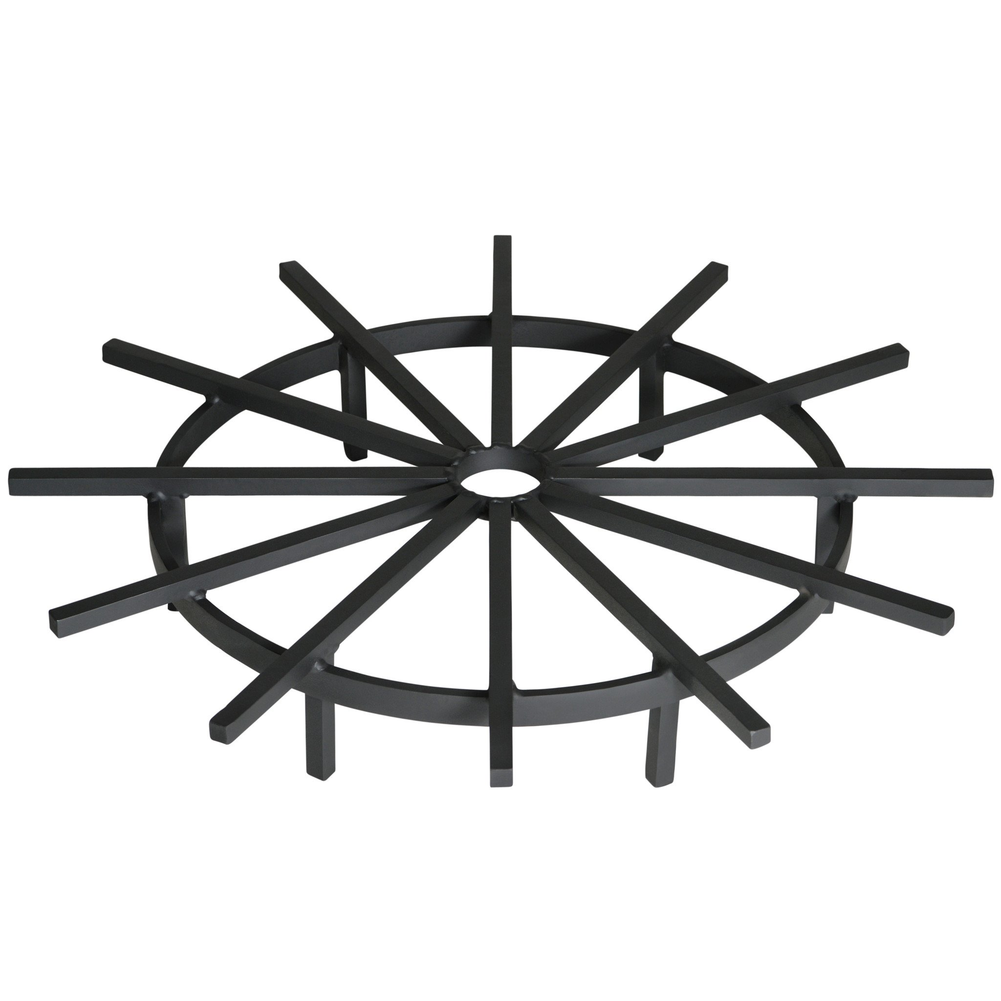 Heritage Products Heavy Duty 28 Inch Ship's Wheel Fire Pit Grate - Made in the USA