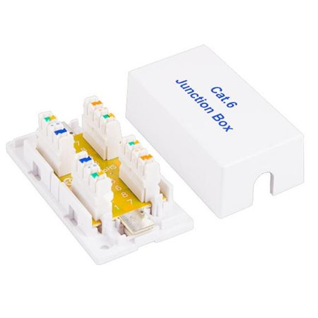Cable Leader BX306-8100 Cat6 Junction Box, 110 Punch Down Style - White ()
