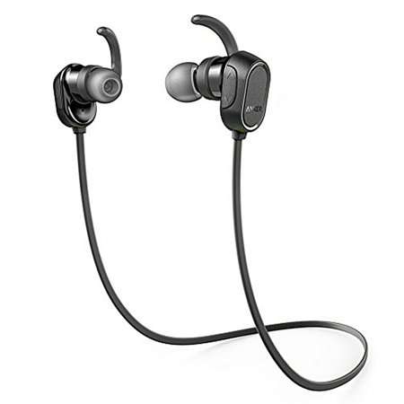 Anker SoundBuds Wireless Headphones, In-Ear Earbuds Bluetooth, Water Resistant and Built in Mic, Black (Open Box - Like