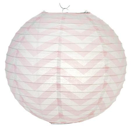 Pink Chevron Paper Lantern, Hanging Decoration - Pink Paper Lanterns