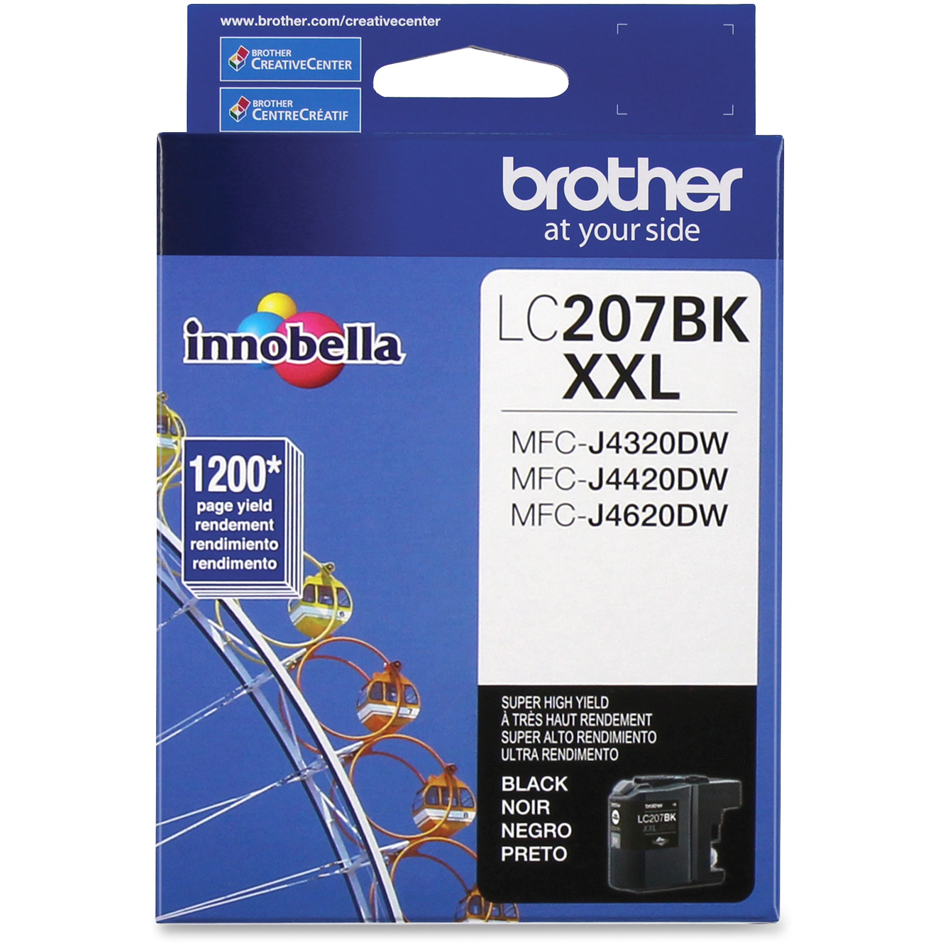 Brother LC207BK Innobella Super High-Yield Ink, Black