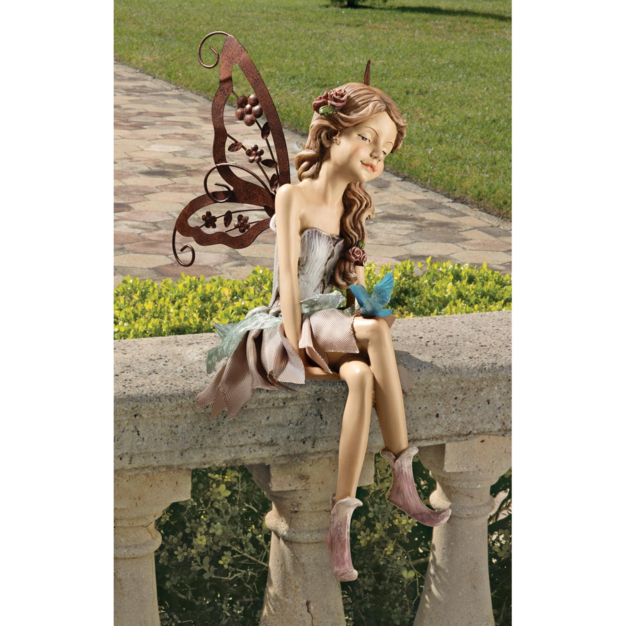 Design Toscano Fannie, the Fairy Sitting Statue