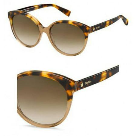 Sunglasses Max Mara Mm Eyebrow I 0XNZ Beige Havana / HA brown gradient lens - Baby Eyes Brown Halloween Contact Lenses