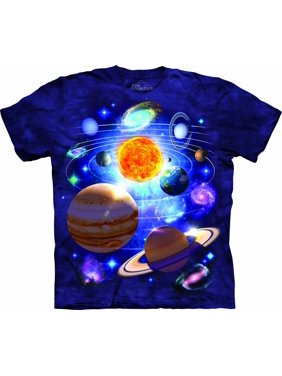 YOU ARE HERE Large Cotton Solar System T-Shirt Purple Youth Short Sleeve T-Shirt