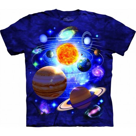 YOU ARE HERE Large Cotton Solar System T-Shirt Purple Youth Short Sleeve T-Shirt (You Are Here T Shirt)