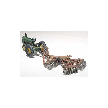 Woodland Scenics D207 Tractor & Disc Plow Metal Cast Kit HO WOOD207 (Disc Plow)