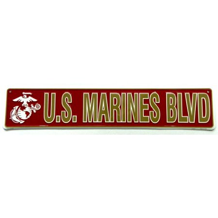 U.S. Marines Blvd Street Sign Usmc Semper Fi Officially Licensed Military Product