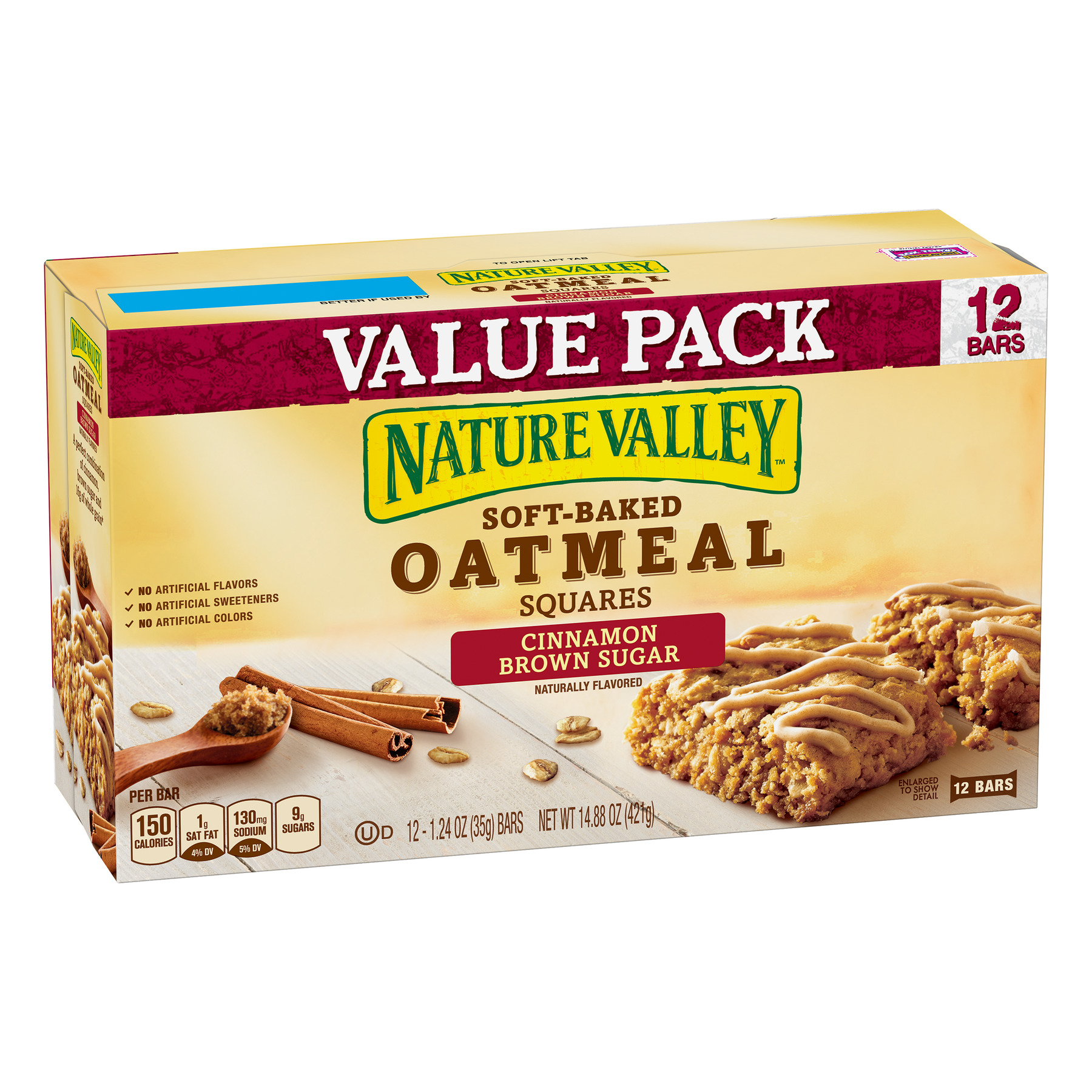 Nature Valley Oatmeal Squares Cinnamon Brown Sugar 12 Bars