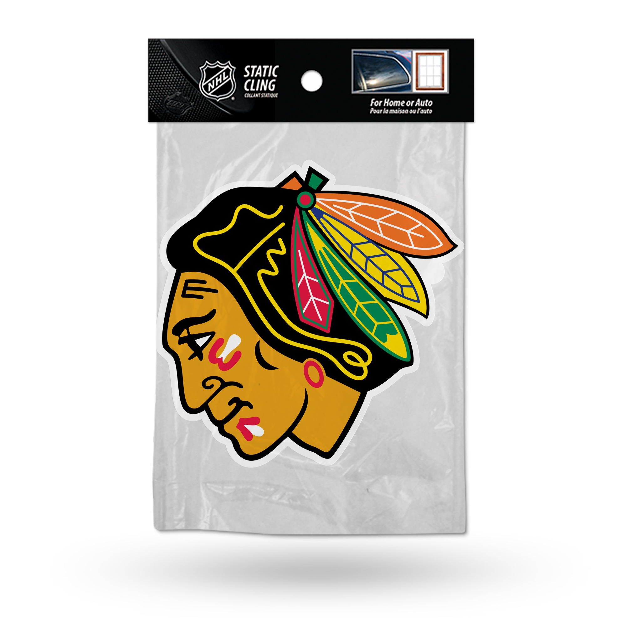 Chicago Blackhawks Official NHL 5 inch  Car Window Cling Decal by Rico