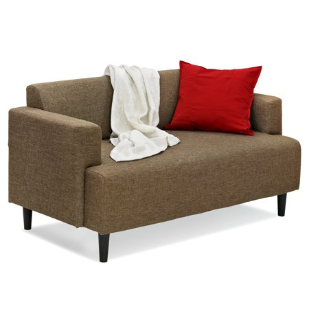 Furinno SF808 Simply Home Modern Fabric Sofa Bed, Brown
