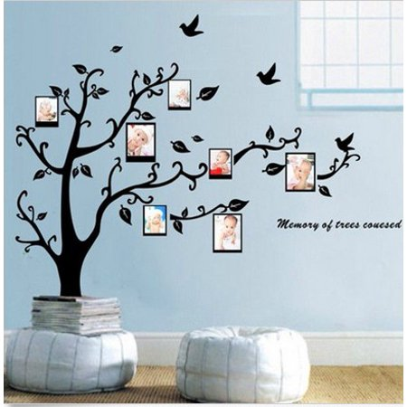 Large 3D DIY Photo Tree Bird PVC Wall Family Sticker Mural Art Home Decor Decal, 99