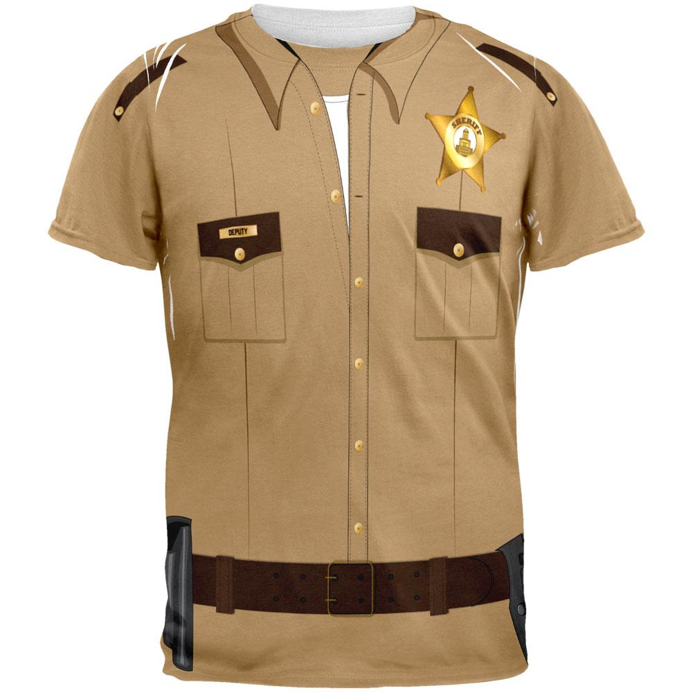 Halloween Sheriff Costume All Over Adult T-Shirt