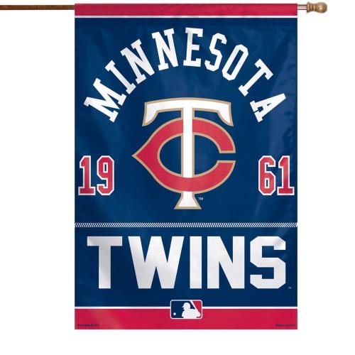 "Minnesota Twins WinCraft 27"" x 37"" Vertical Single-Sided Flag - No Size"