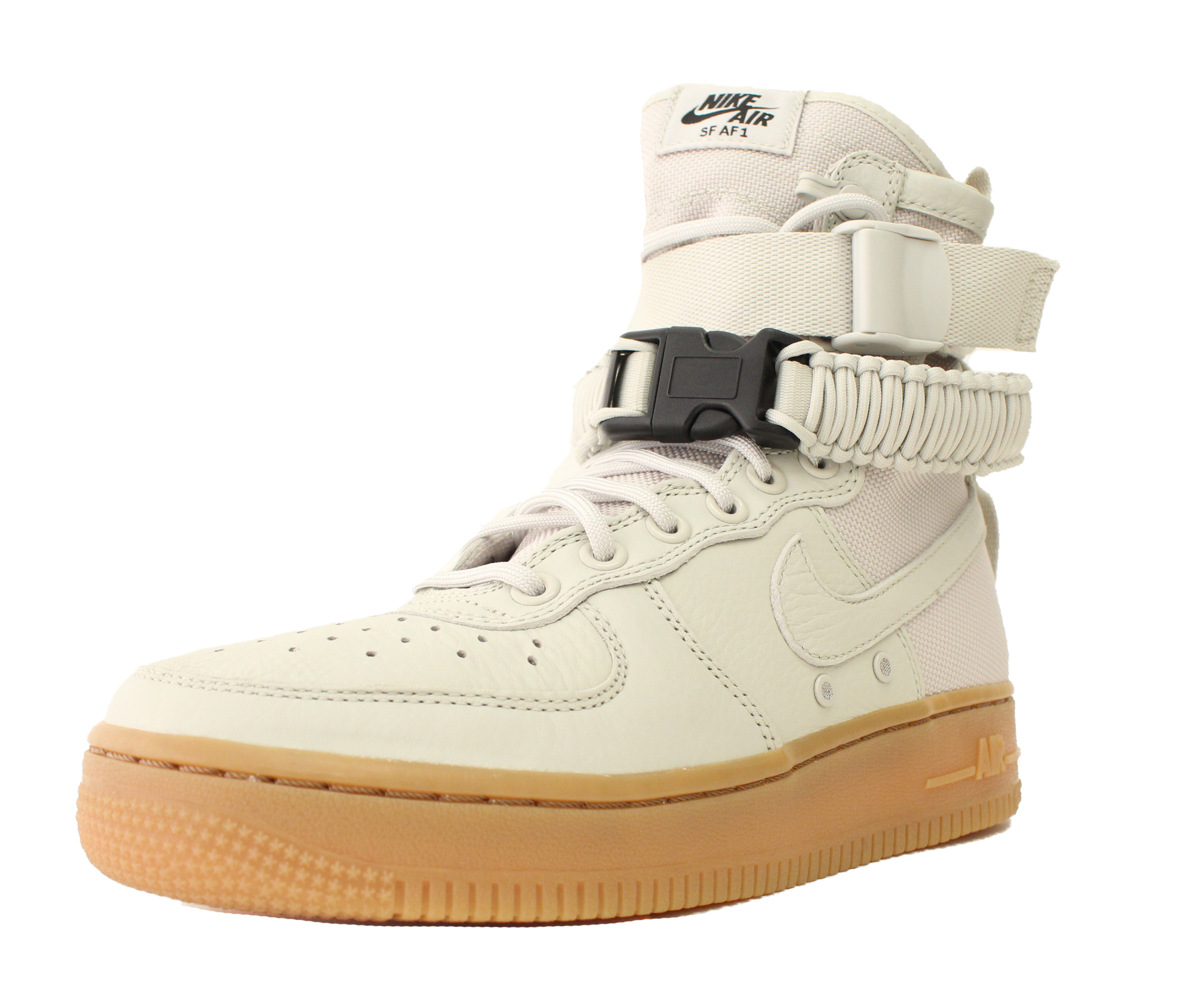 857872 004 NIKE WMNS SF AF1 AIR FORCE 1 HIGH  LIGHT BONE SPECIAL FIELD SZ 8.5