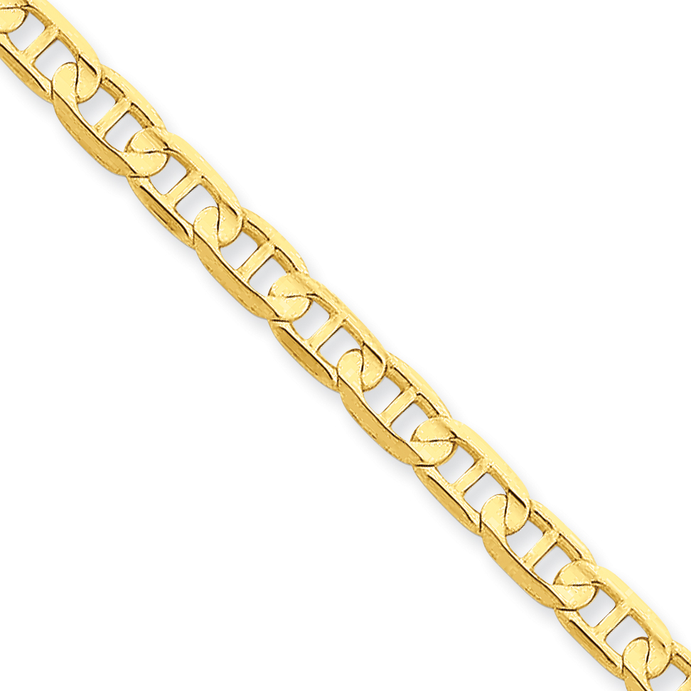 Roy Rose Jewelry 14K Yellow Gold 4.5mm Concave Anchor Cha...