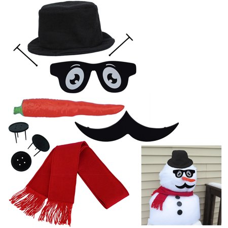Evelots Classy Snowman Kit-Cool-Well Dressed-Sturdy-Our Exclusive-Cool Mustache - Snowman Kit