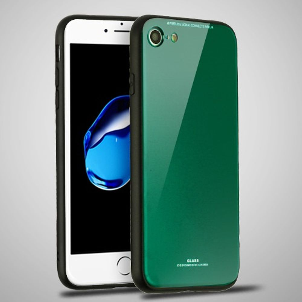 Apple iPhone 7/8 Case, by Insten Executive Protector Dual Layer [Shock Absorbing] Hybrid Hard Snap-in Case Cover For Apple iPhone 7/8, Green (Combo with Clear Screen Protector) - image 3 of 3
