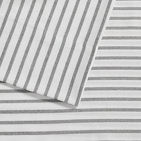 Madison Park Chambray Sheet Set Blue Stripe Twin - image 1 of 4