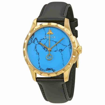 Gucci G-Timeless Turquoise Blue Dial Mens Watch YA126462