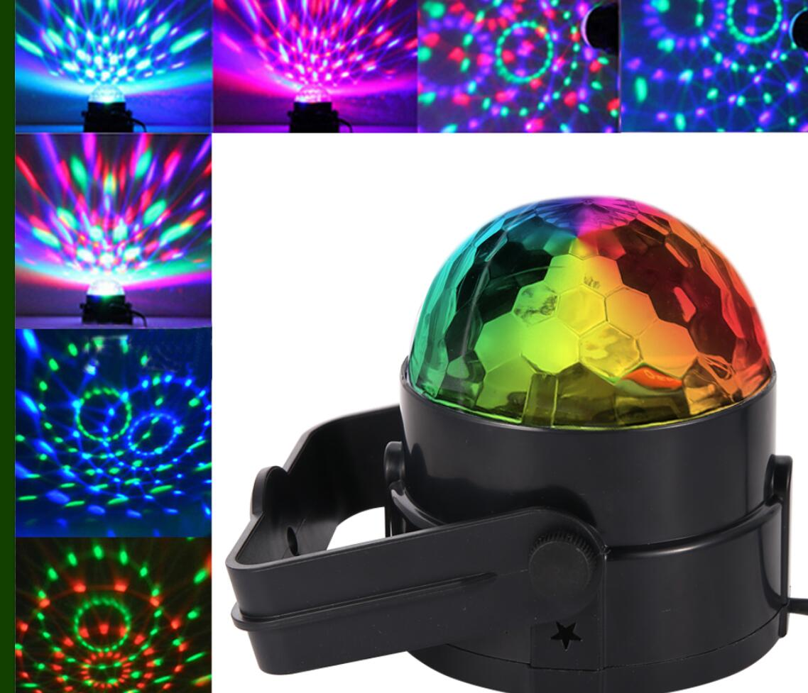 2PCS LED Disco Ball Light with Remote Control, Portable Mini RGB Party Lamp, 7 Colors Sound Actived Crystal Magic Stage... by Lintimes